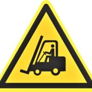 fork lift caution sign