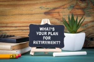 "sign ""What's your plan for retirement?"""